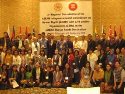 The 2nd Regional Consultation of AICHR with CSOs on the ASEAN Human Rights Declaration, Manila, 12 September 2012