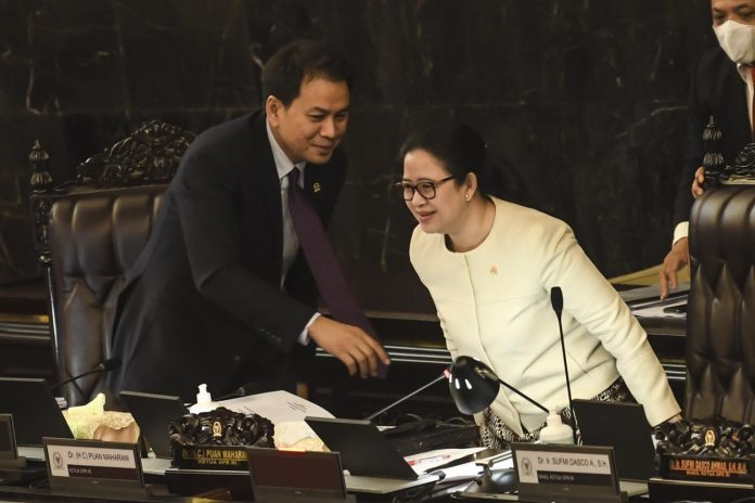 Puan Maharani as Speaker of the People's Representative Council (2019). Picture Courtesy to Jakarta Post